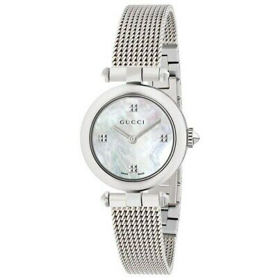 New Gucci Diamantissima Mother of Pearl Dial Stainless Women's Watch YA141504