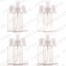 12 x TRAVEL CLEAR BOTTLE SET Airport Security/Holiday/Travel 100ml Containers