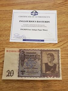 INGLOURIOUS BASTERDS Screen Used FAUX German Currency