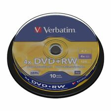 DVD+RW 4x Verbatim Tarrina 10 uds