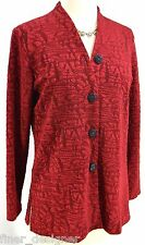 Coldwater Creek suit jacket light coat blazer slinky crinkle knit travel top NEW