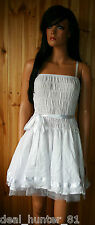Lace White New Year Eve Dress 10/M/38 Sweet Trapeze Party + BELT NEW 40-41/9