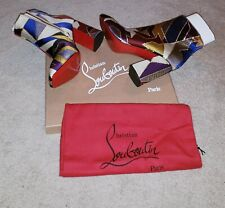 Multi-colored Christian Louboutin Booties size 41. New w/box and receipt