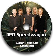 REO SPEEDWAGON GUITAR TAB TABLATURE SONG BOOK SOFTWARE CD
