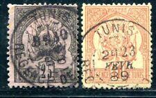 TUNISIE 1888 Yvert 5-6 gestempelt gute WERTE 160€(D8898