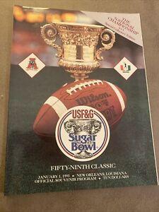 Alabama crimson tide vs Miami 1993 Sugar Bowl Program