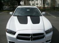 Hood insert stripe stripes inlays decal decals fit 2011-2014 Dodge Charger