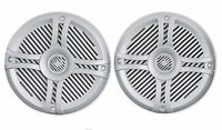 Pair Rockville RMSTS65S 6.5 800 Watt Waterproof Marine Boat Speakers 2Way Silver