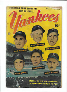 THRILLING TRUE STORY OF THE BASEBALL YANKEES [1952 GD] PHOTO COVER!