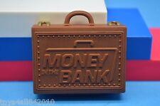 WWE Mattel ELITE BROWN MITB MONEY in the BANK Briefcase Wrestling Accessory- f1