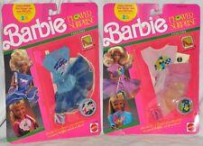 Barbie Flower Surpise Pink & Blue Fashions MOC 1990 Mattel 5933 & 5929 Vintage