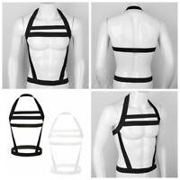 Men's Body Chest Harness Nylon Halter Bandage Belt Strap Clubwear Costume