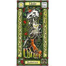 Solsticio de invierno festival Greeting Card 21st DEC Yule Pagano Celta hedingham Fair