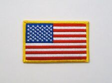 """USA American Flag Iron On Patch 3.5"""" x 2.25"""" New"""
