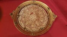 """Antique Jeweled Apollo Studios 10.5"""" Vanity Tray w/ Lace Insert"""