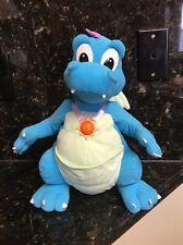 "Disney Dragon Tales 13"" TALKING ORD Lights Up PlaySkool 1999 Plush EUC Medallion"