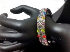 Multi Color crystal Rhinestone Bangle Fashion Bracelet Chic New Floral Flower