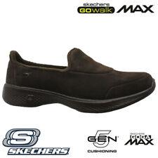 LADIES SKECHERS GO WALK GOGA MAX FLEECE LIGHTWEIGHT SLIPPERS SHOES TRAINERS SIZE