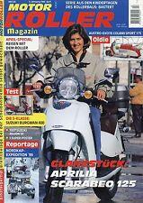 Motorroller Magazin 4 1999 Aprilia Scarabeo 125 Colibri 54 Dürkopp Diana Bastert