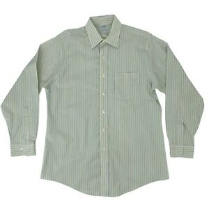 Brooks Brothers Slim Fit Shirt Men's Size 16 - 34 Long Sleeve Striped Button Up
