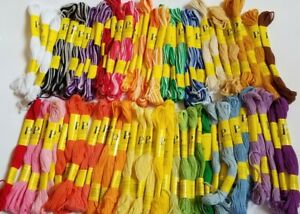 Prism Cross Stitch Embroidery Floss Thread 70 Skeins Solid Colors & Variegated