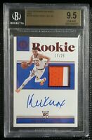 2018-19 KEVIN KNOX Encased On-Card Rookie Patch Auto /25 SP Knicks BGS 9.5 10
