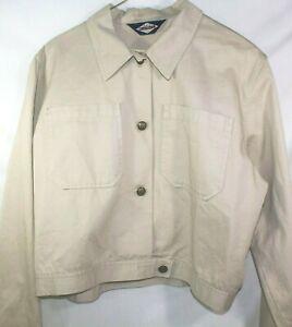 Ruff Hewn shirt jacket cotton shacket size Small Metal Buttons pockets khaki
