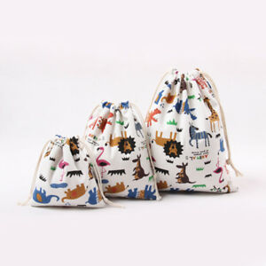 Cartoon animal drawstring bag gift bag carry bag