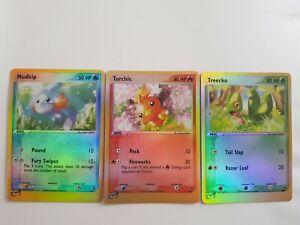 Mudkip, Torchic & Treecko Promo Blackstar Pokemon Holo Card Trio Set - Very...