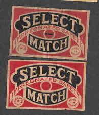 Ancienne   étiquette  Allumette  Belgique BN2251 Select