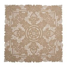 """Ecru Embroidered Full Hand Cutwork Table Topper /Center Piece Square 36x36"""""""