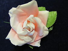 "Millinery Flower Pink Cotton 3"" Rose Simple Perfect for Hat Wedding or Hair NW3"
