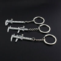 Creative Movable Vernier Caliper Model Key Ring Chain Metal Keychain Keyring