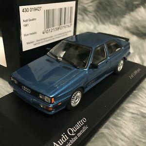 Minichamps 1:43 Audi quattro 1981 Oceanic Blue Metallic 430-019427