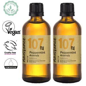 Naissance Peppermint Arvensis Essential Oil 200ml (2x100ml) Aromatherapy