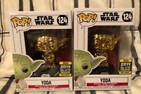 Funko POP! Star Wars Yoda Gold Chrome #124 2019 Galactic Convention Exclusive