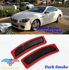 Euro Dark Smoke Bumper Side Marker Reflectors For 14-19 BMW 4 Serie F32 F33 F36