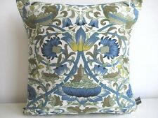 Liberty - William Morris Lodden Blue & Vintage Navy Sateen Fabric Cushion Cover