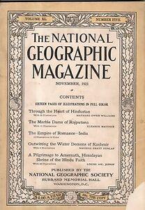 1921 National Geographic November - The Hindu religion; India; Kashmir;Rajputana