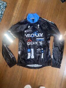 Hincapie Cycling Wind Jacket Womens Medium Velobody Specialized Black/Blue