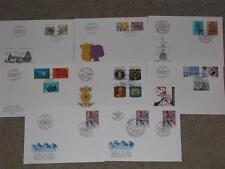 Switzerland, 8 different 1992 FDC`s including Combo with Austria