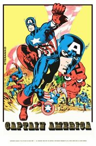 Marvelmania Captain America 24 x 36 Reproduction Character Poster