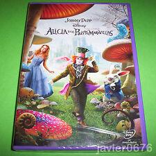 ALICIA EN EL PAIS DE LAS MARAVILLAS JOHNNY DEPP DISNEY DVD NUEVO Y PRECINTADO
