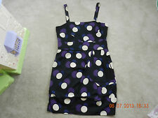 MARC by MARC JACOBS - Purple Cream Dots Prints Origami Dress size 12 L $468 NEW