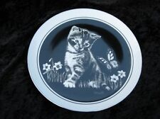 "Vintage Royal Cornwall ""Are You a Flower ?"" Kittens World Plate Rudy Droguett Le"