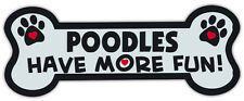 Dog Bone Shaped Magnets: Poodles Have More Fun!   Cars, Trucks, Mailboxes