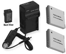 2 Batteries NB-6L + Charger for Canon SX240 HS SX260 HS D10 PC1355 S90 SD3500
