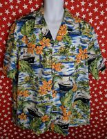 Royal Creations Mens Cruise Ship Tropical Vacation Hawaiian Shirt Size XL A305