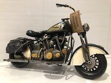 More details for metal tin black white motor bike model harley davidson indian chief style '34cm'