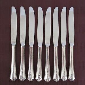 Holmes & Edwards Spring Garden set of 8 dinner knives silverplate flatware knife